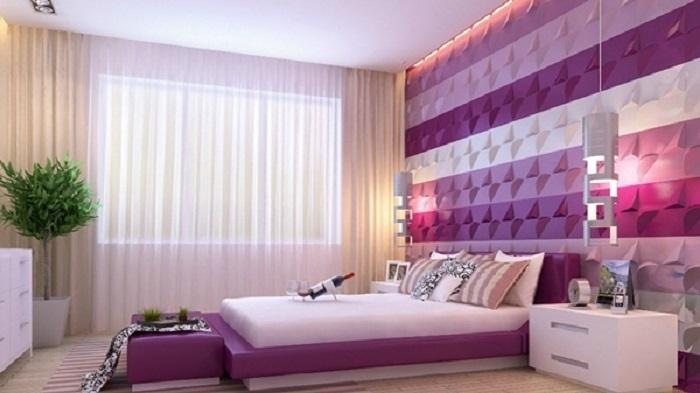 Trang trí phòng ngủ với tấm ốp dán tường 3D
