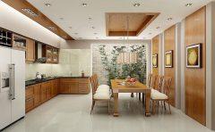 Tường nhà bếp nên dán giấy hay xốp?