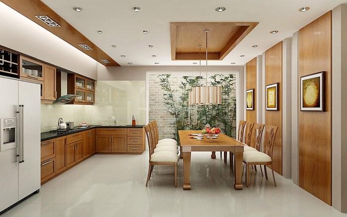 Với nhiều yêu cầu đặc biệt, tường nhà bếp phù hợp với những loại xốp dán tường