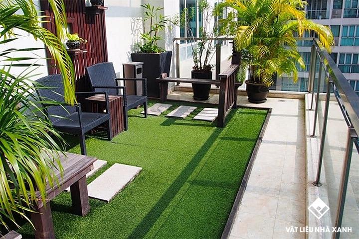 Thảm cỏ nhân tạo cho ban công