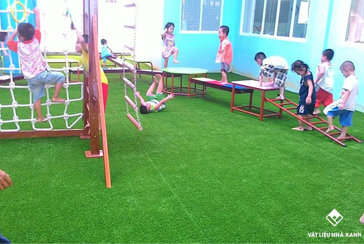 Thảm cỏ nhân tạo khu vui chơi