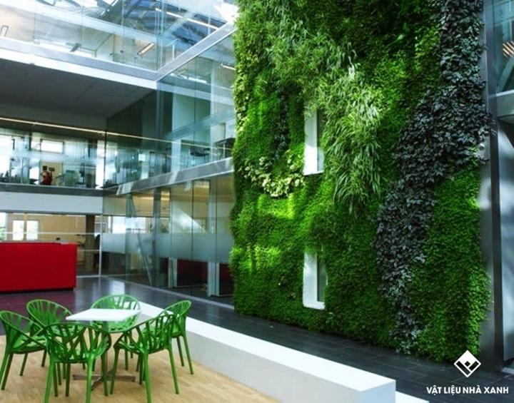 Thảm cỏ nhân tạo trang trí văn phòng