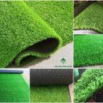 Thảm cỏ nhân tạo lót sàn trang trí dán tường trong nhà ngoài trời