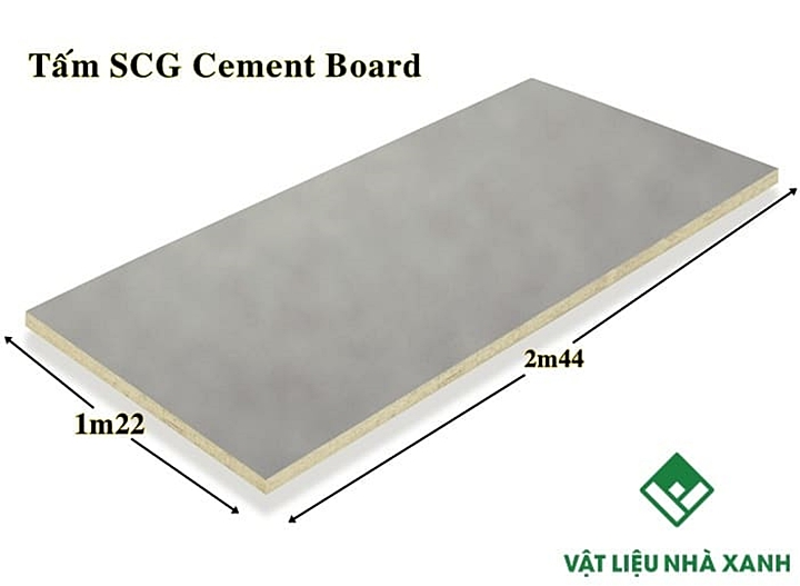 Kích thước của tấm Cement Board SCG
